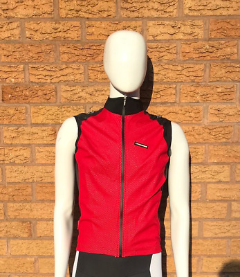 Moozes Windstopper Cycling Gilet Wind Vest Full Zip With Zip Pocket - Red  • 14.99£