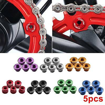 5pcs Deckas Bicycle Chainset Bolts For Single Chainring Alloy Fixie Road Mtb Uk • 5.39£