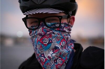 Boom Room Cycling Bandana Wear Face Covering Mask Neck Under Cycle Bike Helmet • 14.99£