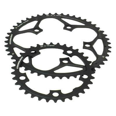 Stronglight Dural 5083 9/10 Speed Chainring | 130mm BCD | Black | All Sizes • 20.79£