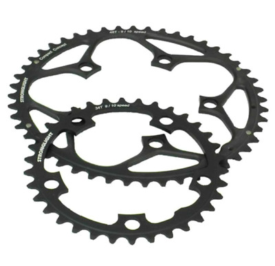 Stronglight Dural 5083 9/10 Speed Chainring | 110mm BCD | Black | All Sizes • 20.79£