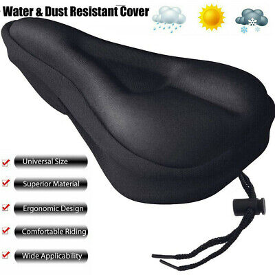 Bike EXTRA Comfort Soft Gel Pad Comfy Cushion Saddle Seat Cover Bicycle Cycle • 3.79£