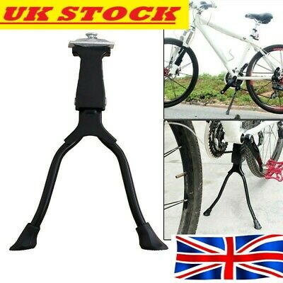 Strong Double Leg Stand Kick Kickstand Bike Support Spring Center Bicycle Cycle • 14.99£
