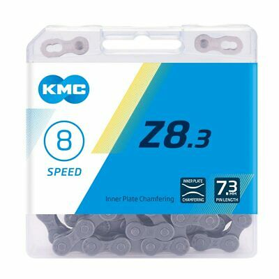 KMC Z8.3 Silver 8 Speed Chain - 1/2  X 3/32  - 114 Links - Pin Length 7.3mm • 12.20£