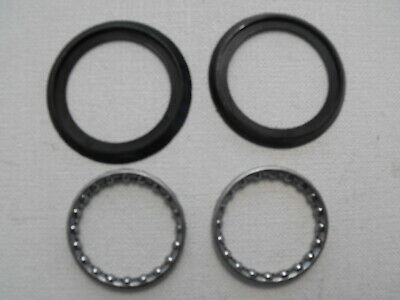 NEW - 2 X TOP & BOTTOM HEADSET CAGED BEARINGS & SEALS For 11/8  STEERER FORKS • 2.95£