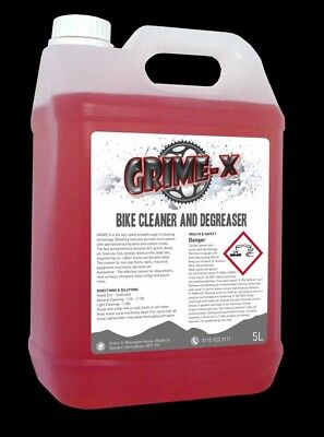 5 Litres Grime-X Bike Cycle Cleaner & Chain Degreaser Strong Citrus Clean Bio • 14.99£