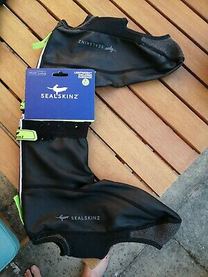 SealSkinz Lightweight Reflective Branding Pull On Shoe Covers Cycling Overshoes • 5£