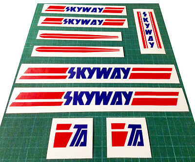 Skyway Bmx Stickers Set - Replacement Frame & Forks Retro Decals • 9.99£