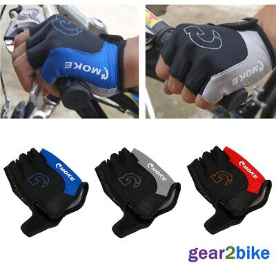 Fingerless Cycling Gloves Bike Bicycle Padded Half Finger Sports Motorbike Road • 6.29£