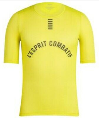 Rapha PRO TEAM Short Sleeve Base Layer Chartreuse BNWT Size L • 44.99£