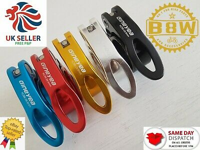 28.6mm Quick Release Bicycle Bike Seat Post Clamp In Black Blue Gold Red Silver • 4.95£