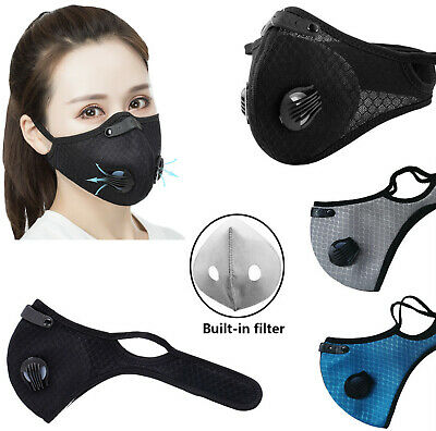 Anti Air Pollution Face Mask With Respirator Filter Outdoor Washable Reusable • 16.90£