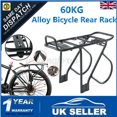 60KG Alloy Rear Bicycle Pannier Rack Carrier Bag Luggage Cycle Mountain MTB Kit  • 20.99£