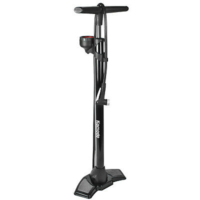 Bicycle Floor Pump With PSI BAR Pressure Gauge Bike Cycling Kit Tyre Inflation • 19.97£