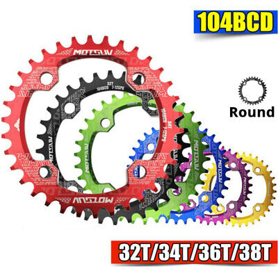Bike Narrow Wide Round Chainring Ring BCD 104mm 32 34 36T Single Tooth Chain  • 6.99£