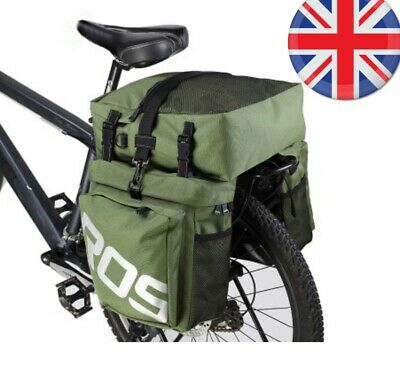 Bicycle PANNIER SET 3 In 1 Waterproof High Quality Bags Rear Top Bag Roswheel UK • 29.99£