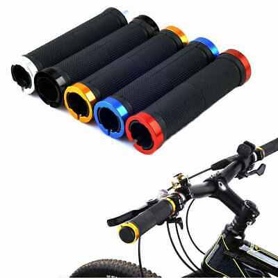 Double Lock On BMX MTB Mountain Bike Bicycle Scooter Handle Bar Grips Cycle  • 3.99£