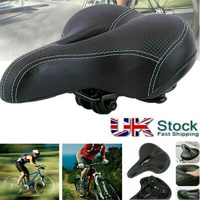 Universal Extra Wide Comfort Cushioned Bicycle Gel Saddle Bike Seat Soft Padded • 10.99£