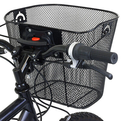 Storage Container Mesh Basket With Carry Handle Bike Front Bag Riding Pouch • 22.90£