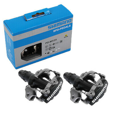 Shimano PD M520 SPD Clipless MTB Pedals With SH51 Cleats Boxed Black Genuine • 25.99£