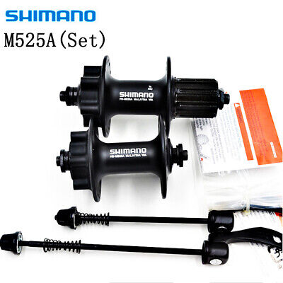 NEW Shimano HB-M525A / FH-M525A 32h Front & Rear 6-Bolt Disc Hub Black One Set • 33.99£