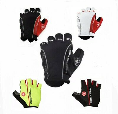 Castelli Rosso Corsa Classic HALF FINGER Gloves Cycling Bicycle Summer Gloves  • 10.39£