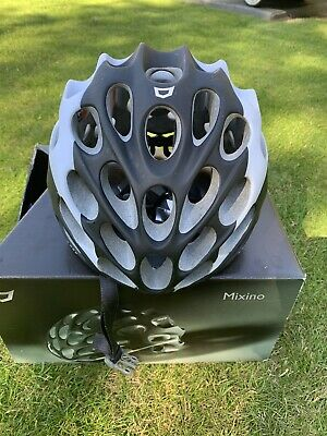 Catlike Mixino Road Bike Cycling Helmet Matt Black/white Large 58-60cm • 11£