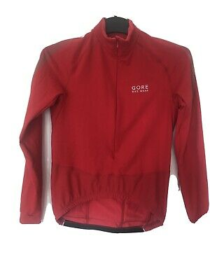 Gore Ladies Red Long Sleeve Cycling Top Size 12 • 10£