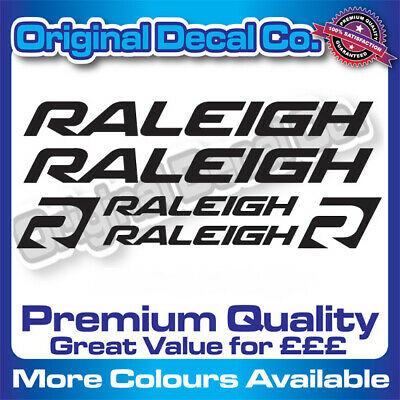 Premium Quality Raleigh Bike Replacement Bike Decals Stickers Mtb Bmx Cycle • 5.99£