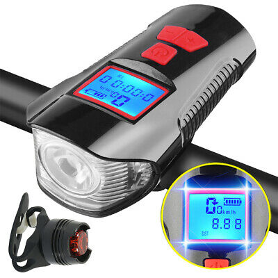 Bike Lights Set USB Rechargeable Mountain Cycle Bicycle  Front Back Headlight • 6.49£