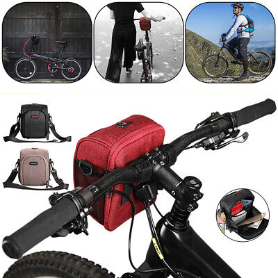 Cycling Bags Bicycle Bike Handlebar Bag Front Frame Tube Waterproof Front Basket • 10.39£