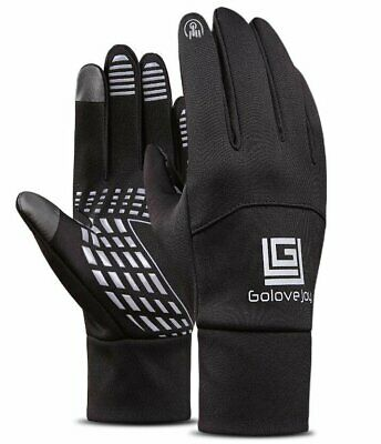 Black Sports Neoprene Windproof Touch Screen Thermal Gloves Mittens Winter UK • 3.79£