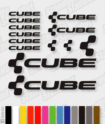 CUBE Vinyl Decals Stickers - 40+ Colours - Cycling Mtb Bmx Road Bike Frame - V3 • 3.89£