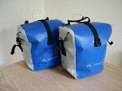 Vaude Aqua Back Front Panniers (blue And Grey) • 40£