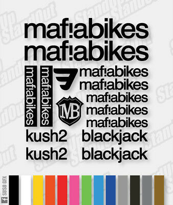 MAFIABIKES MAFIA Vinyl Decals Stickers - 40+ Colours  Cycling Mtb Bmx Bike Frame • 3.99£