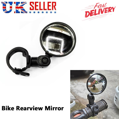 Mountain Bike Rearview Mirror Bicycle Handlebar Convex Rear Rotate View Mirror • 0.99£