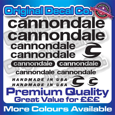 Premium Quality New Cannondale Bike Stickers Decals Mountain Bike Frame Forks • 6.99£