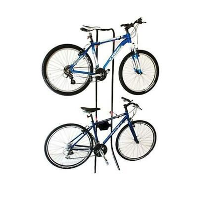 Gravity Bicycle Rack Storage Stand Bike Cycle Holds 2x Bikes Adjustable 24-149 • 29.99£