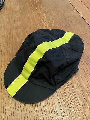 Genuine Rapha Cycling Cap - Black WithChartreuse Stripe - USED • 1.20£