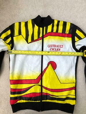 RARE Vintage Cycling Transfer Jacket, 2 Rear Pockets, Geffrault Cycles Canelli M • 9£