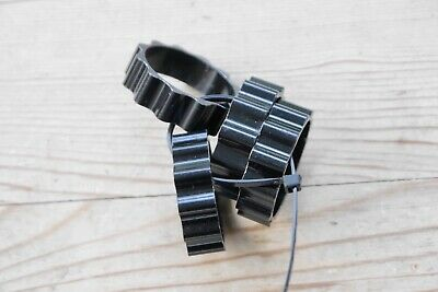 4 X Ribbed, Black Alloy Headset Spacers, 1 1/8, Approx 4cm • 5£