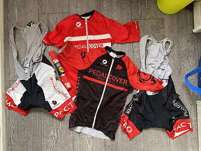 Pactimo Bibshorts And Jerseys Bundle Pedalcover Sponsored Womens Small • 25£