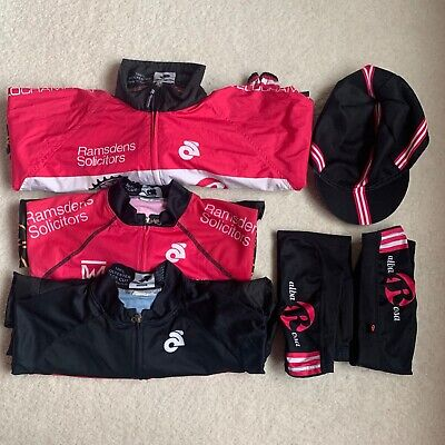 Alba Rosa Cycling Bundle Jersey, Jacket, Bib Shorts, Cap, Arm Warmers Size Med • 125£