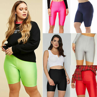 New Women's Active Casual Dancing Gym Festival Summer Nylon Lycra Cycling Shorts • 3.99£