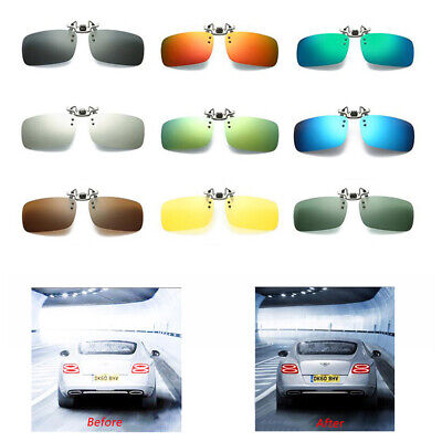Polarised HD Anti-glare Clip On Sunglasses Night Driving Glass Spectacle Lens • 7.39£
