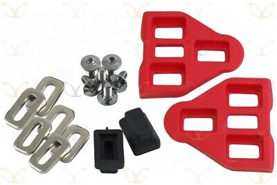1 Pair Red LOOK Delta Compatible Pedal Cleats With Screws Washers, CarbonCycles • 8.49£