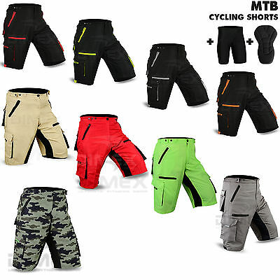 MTB Cycling Short Off Road Bicycle With CoolMax Padded Liner Shorts Dimex Sports • 16.99£