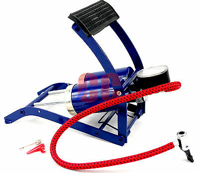 Double Cylinder Foot Pump Twin Barrel Car Bike Bicycle Tire Inflation Van Tyre  • 9.17£