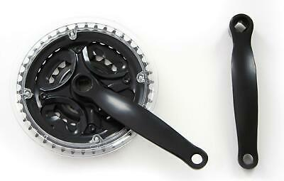 NECO 170mm Mountain Bike Triple CHAINSET ( Crank Set ) - In Black 24 34 42T New • 14.99£