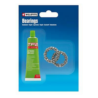 Weldtite Bike Cycle Caged BB Ball Bearings With Grease 1/4  Bottom Bracket Cages • 2.98£